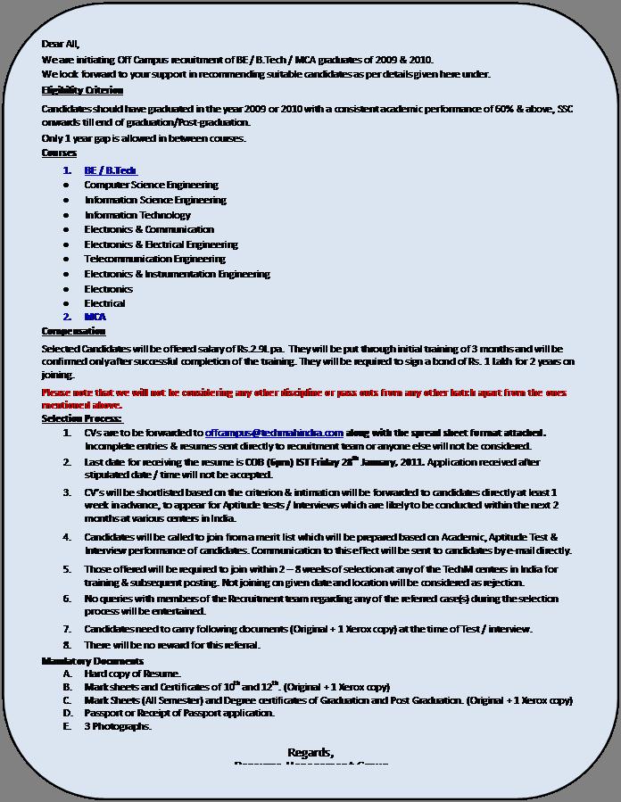 tech mahindra job « Pavan DBA\'s Blog