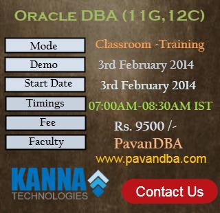 Oracle DBA Classroom-3rd FEB