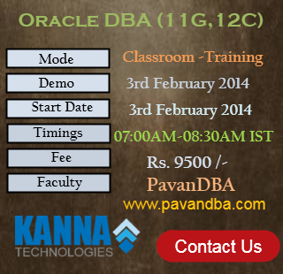 Oracle DBA Classroom-3rd FEB