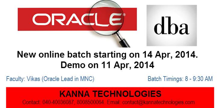 Orace DBA New Batch-1