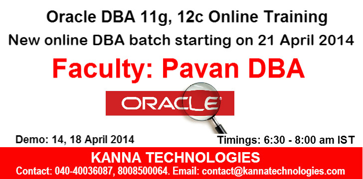 Pavan DBA Batch