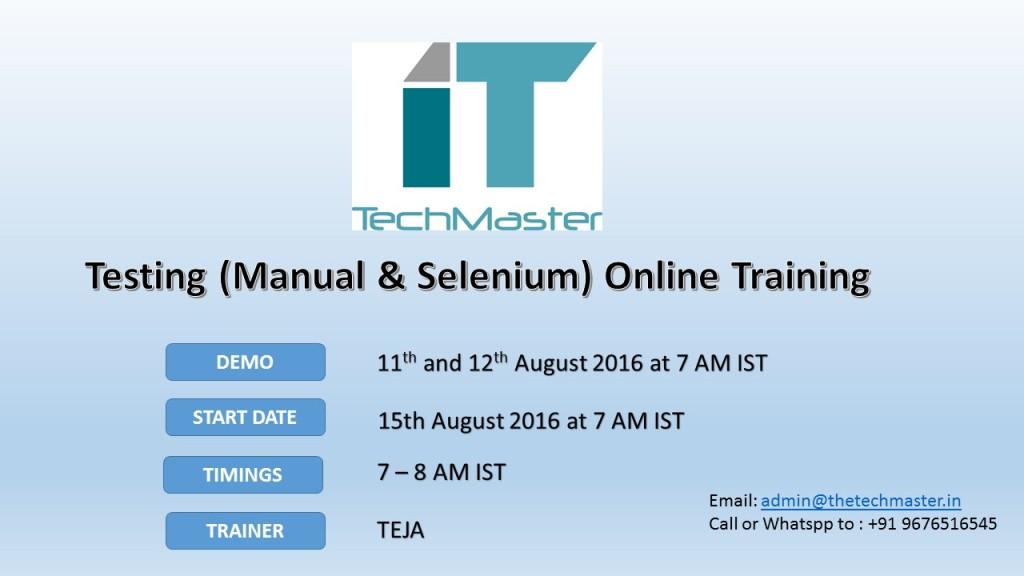 Testing advt-August2016